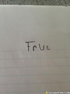 How To Answer On Every True or False Quiz