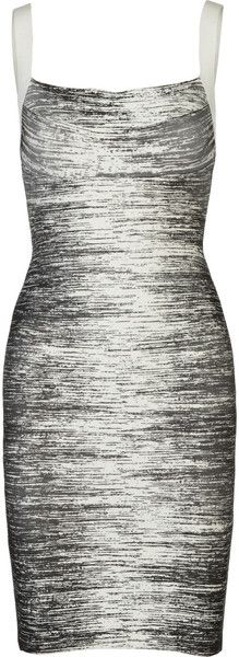 8200a350bcac Herve Leger Printed Bandage Dress - Lyst Herve Leger Dress
