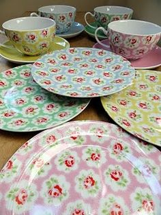 Cath Kidston - there's nothing better than a nice cup of tea and a piece of cake served on this china