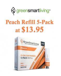 At GreenSmartLiving, they are offering Get Peach Refill 5-Pack at $13.95. Snap up now and avail this offer. For more GreenSmartLiving Coupon Codes visit:  http://www.couponcutcode.com/stores/greensmartliving/