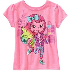 Garanimals Baby Toddler Girl Short Sleeve Graphic Tee - Walmart.com