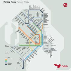 Official Map: Copenhagen S-Tog Network, 2014