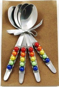 beaded silverware | WOW Imports handmade beaded wire wrapped flatware - Stylehive