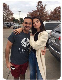 Selena Gomez and a fan