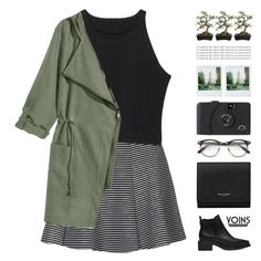 """""""Jenny"""" by chelseapetrillo ❤ liked on Polyvore featuring Topshop, Yves Saint Laurent, Polaroid, Crate and Barrel and melsunicorns"""