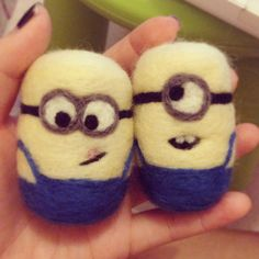 minion despicable me handmade needle felted by bisousdesiree