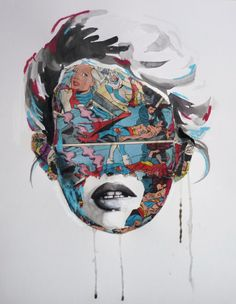 It's A Dan's World: MAKING A MARK: Sandra Chevrier - Mixing Painted Portraits With The Justice League