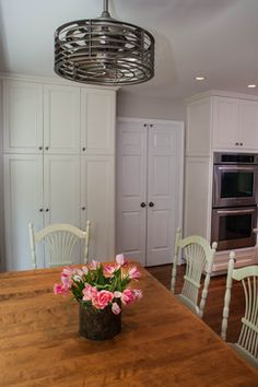 ~~~ ceiling fan ~~~ Kitchen Table and Chandelier - traditional - Kitchen - Dc Metro - Lindsey M. Roberts