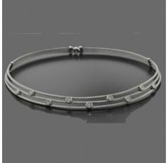 Charriol Stainless Steel Diamond Necklace