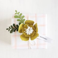 Who doesn't love a pretty package?! I'm sharing a few ideas over on the blog. Finally posted today. There really is nothing quite like handmade. #prettypackage #wrapped #wrapit #papercrafting #giftgiving #paperflowers #paper