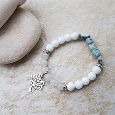 Náramek larimar, nefrit, jadeit se stromem života Beaded Bracelets, Jewelry, Jewlery, Jewerly, Pearl Bracelets, Schmuck, Jewels, Jewelery, Fine Jewelry