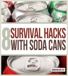 8 Survival Hacks Using a Soda Can - Survival Life   Outdoor Survival Gear & Skills, SHTF Prepping