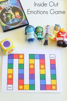 Inside Out Emotions Game Inside Out emotions board game. Teaching emotions to toddlers and preschoolers. adInside Out emotions board game. Teaching emotions to toddlers and preschoolers. Emotions Game, Feelings Games, Teaching Emotions, Emotions Activities, Feelings And Emotions, Feelings Preschool, Preschool Themes, Therapy Games, Therapy Activities
