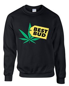 Stop-Symbol-with-Marijuana-Leaf Mens Long Sleeve Crew Neck Pullover