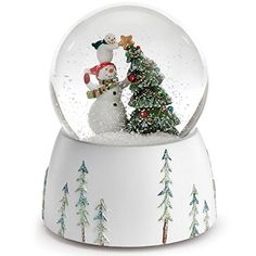 Roman Snowmen Topping The Christmas Tree with a Star Musical Snow Globe * Remain to the product at the photo link. (This is an affiliate link). Snow Globes For Sale, Christmas Snow Globes, Christmas Snowman, Christmas Time, Christmas Ornaments, Wedding Cake Decorations, Christmas Decorations, Home Snow, Pure White Background