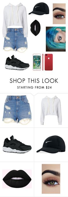 """""""💁"""" by iaxabxix-1 ❤ liked on Polyvore featuring River Island, Monrow and NIKE"""