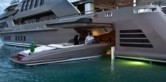 The J'Ade Luxury Yacht with a Floating Garage