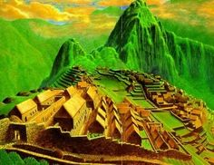 inca city reconstrucion   Pacaritambo - Machu Picchu Magazine and History Bookstore