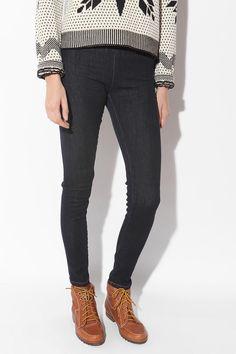 Mid-Rise Denim Legging- Vintage Denim Dark