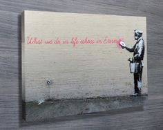 We have a collection of more than 60 great Banksy Art Prints, these prints of the graffiti artworks include many of his most famous art such as Balloon Girl Street Art Banksy, Graffiti Art, Banksy Wall Art, Banksy Artwork, Banksy Canvas, Banksy Posters, Banksy Prints, Damien Hirst, Arte Banksy