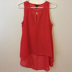 Forever 21 Hi Lo Top Forever 21 red hi lo top size M Forever 21 Tops