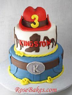 Western Cowboy Birthday Cake with Red Hat   A Peek Into My Week