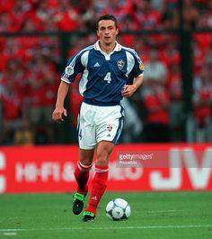 Football, European Championships (EURO 2000), Sclessin Stadium, Liege, Belgium, Yugoslavia 1 v Norway 0, 18th June, 2000, Yugoslavia+s Slavisa Jokanovic runs with the ball