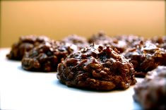 OH YUM!  Frozen Chocolate Coconut Haystacks - all natural uses coconut oil, agave and maple syrup (Raw)