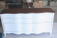 For the Home Refinished Dresser mit Kreidefarbe - Megan Brooke Handmade Man Earring: a Radiantly Mac White Bedroom Set, Mens Leather Coats, Rubber Cement, Habitat Restore, Dresser Refinish, Padded Hangers, Tiny Closet, R&b Artists, Terry Towel