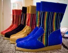 Botas peruanas colores disponibles azul, rojo, camel y negro del 35 al 42