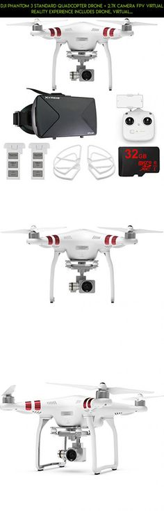 DJI Phantom 3 Standard Quadcopter Drone + 2.7K Camera FPV Virtual Reality Experience includes Drone, Virtual Reality Viewer, Intelligent Flight Battery, Propeller Guards and 32GB microSDHC Memory Card #standard #plans #bundle #fpv #kit #racing #shopping #drone #gadgets #products #parts #technology #phantom #dji #tech #3 #drone #camera