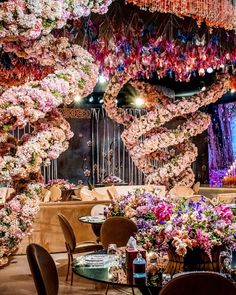Who said home celebration can't be striking and spectacular 💕 !? For this wedding in #Qatar, the designer transformed a parking lot into the most beautiful pink wondelrand filled with floral tornados 💕 Swipe for inspiration!
