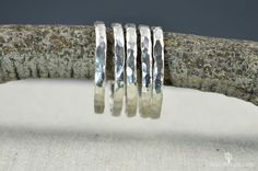 Super Thick Pure Silver Stackable Rings, Stack Rings, Stacking Rings, Made to Order, Hammered Silver Ring Rook Jewelry, Rook Earring, Daith Earrings, Jewlery, Silver Stacking Rings, Stackable Rings, Silver Rings, Hammered Silver, Sterling Silver
