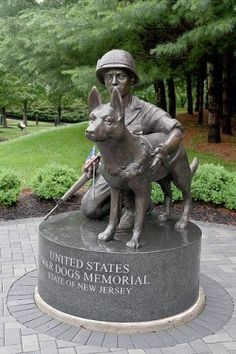 """War Dog Memorial at the March Air Reserve Base in Riverside.  During the Vietnam War, more than 4,000 dogs served in various positions, said Michael Lemish, a military dog historian and author of """"Forever Forward: K-9 Operations in Vietnam."""""""