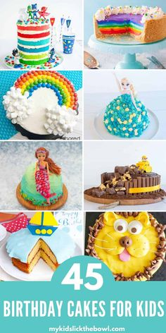 45 awesome birthday cakes for kids, easy cake tutorials your kids will love #childrensbirthdaycake #birthday #birthdayparty #birthdaycake Diy Birthday Cake, Birthday Parties, Birthday Ideas, Birthday Stuff, Baby Birthday, Cakes For Boys, Cake Kids, Fairy Tea Parties, Paw Patrol Cake