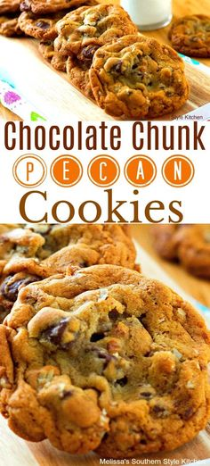 These Chocolate Chunk Pecan Pudding Cookies are loaded with pecans and chunks of chocolate that transform into a sweet addition ideal for any occasion. Pudding Cookies, Pecan Cookies, Chocolate Chunk Cookies, Yummy Cookies, Chip Cookies, Chocolate Desserts, Anise Cookies, Cookie Desserts, Amazing Cookie Recipes