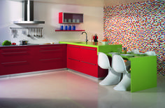 Now Silestone offers you beautifully sleek kitchen counter in red. Silestone gives some side for its sleek kitchen counter forever to red Kitchen Worktop, Kitchen Space, Countertops, Granite Countertops, Granite Worktops, Sleek Kitchen, Red Kitchen, Kitchen, Silestone