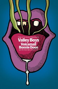 Valley Boys / Voicemail / Bonnie Doon. Poster design: Kenneth J. MacLaurin (2013).