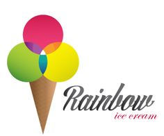 This fictitious company Rainbow has got an interesting ice cream company logo very colourful, yet simple with and really nice typography.