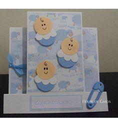 $4.50 Baby Boys Card by HouseofCards on Handmade Australia