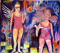 Large canvas painting. Original painting. surreal by JamieHudrlik