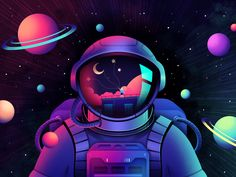 Astronaut Illustration, Space Illustration, Neon Wallpaper, Wallpaper Space, Astronaut Wallpaper, Space Drawings, Universe Art, Galaxy Art, Storyboard