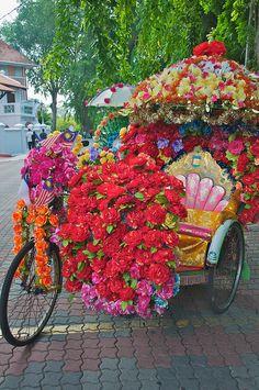 El rickshaw mas bello de India <3<3 pronto para una reina :)