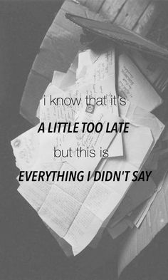 Everything I Didn't Say - 5 Seconds of Summer