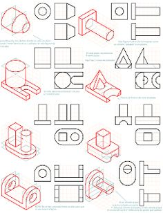 losmuertosdeldiedrico: PERSPECTIVA ISOMÉTRICA 1º BACHILLERATO Isometric Drawing Exercises, Concept Architecture, Architecture Diagrams, Architecture Portfolio, Orthographic Drawing, Interesting Drawings, Modelos 3d, Concept Diagram, Technical Drawing