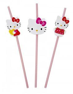 Hello Kitty Party Straws   24 ct - $6.95
