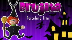 DY Dije de Brujita halloween / Patty Creativa / Porcelana Fría / Cold Po...