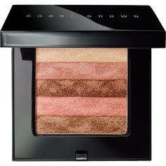 Bobbi Brown Shimmerbrick - Sunset Pink (405 NOK) ❤ liked on Polyvore featuring beauty products, makeup, cheek makeup, blush, beauty, accessories, make, colorless, blending brush and shimmer blush