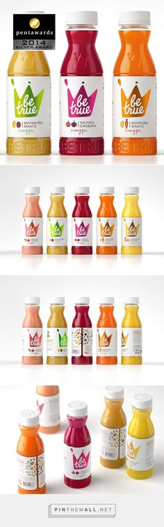 Be True juice #packaging & label design