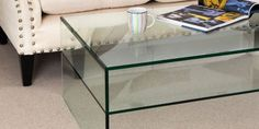 Greenapple Pure Glass Coffee Tables